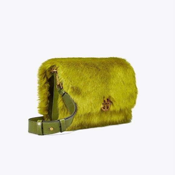 a891a8374c4e Tory Burch Chelsea faux fur shoulder bag NWT